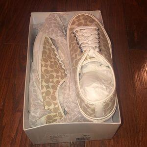 Brand new light khaki Coach sneakers size 8.5